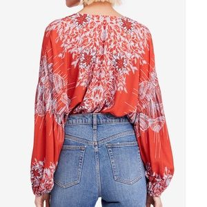 Free People Tops - Free People Birds of a Feather Peasant Top Sz:M